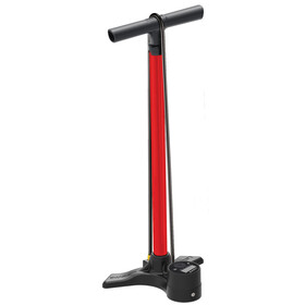 Lezyne Macro Floor Drive Digital - Pompe à vélo - rouge/noir